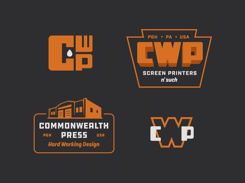 Commonwealth Press alt typography logo illustration