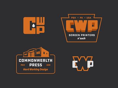 Commonwealth Press alt typography logo illustration