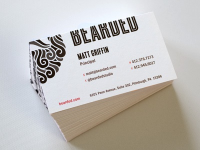 New Bearded Cards business cards beard cyclone bearded