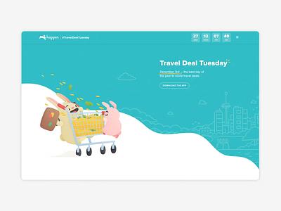 Travel Deal Tuesday 2019 Microsite branding illustration webflow web design web microsite marketing layout design
