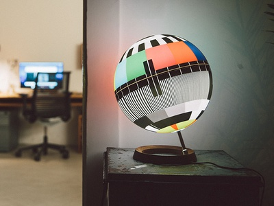 I've designed a lamp inspired by TV test cards test signal test card design lamp mono lamp tv light lamp