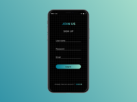Mobile app - DailyUi Log in