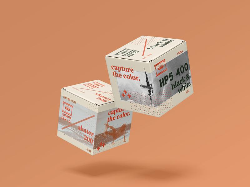 Chroma Film Co. collage brand identity branding design branding package design packaging