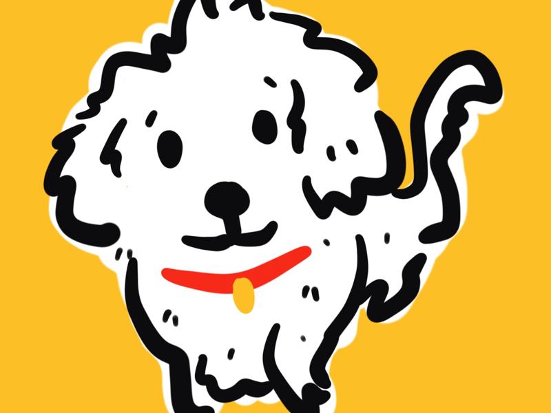 Good boy best friend animal illustration doggo pupp snowy good boy puppy dog
