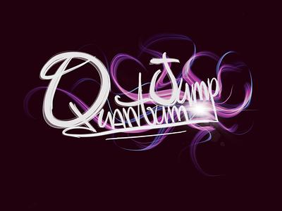 Quantum Jump цифровое 3d порождать искусство творческая работа леттеринг типография графический дизайн графика вектор брендинг логотип минск иллюстрация дизайн ipadpro арт творчество шрифт искусство каллиграфия
