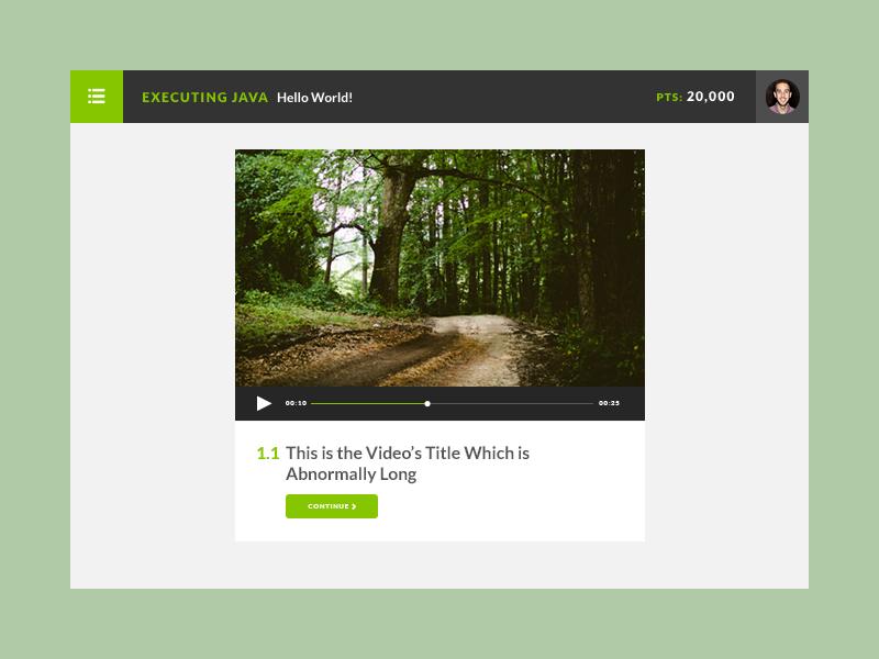 Videoz video course player web app style ui interface