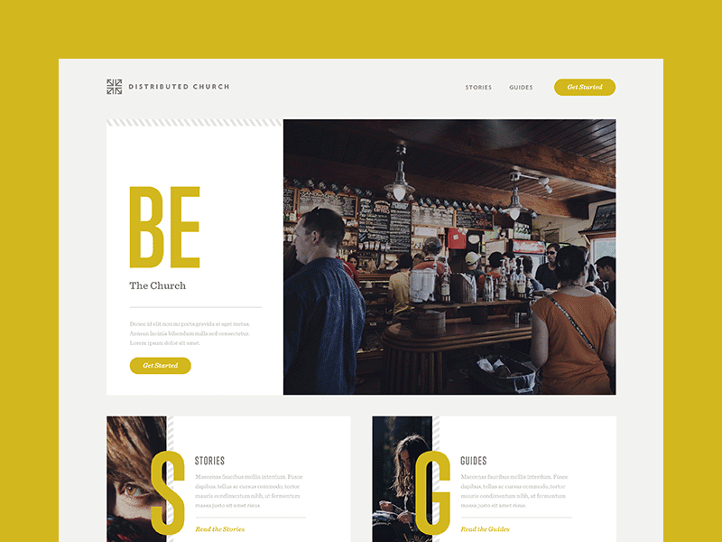 Travel Inspired Site web ui ux art direction yellow gray photo photography