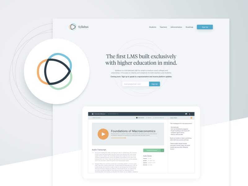 New Project • Coming Soon! ux ui app branding gradient web marketing lms education