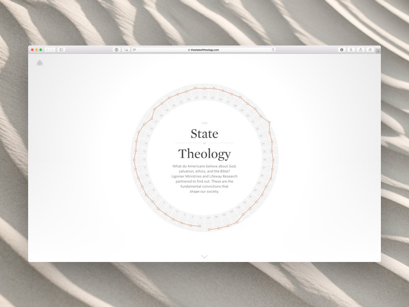 Ligoner • The State of Theology Home interactive marketing visualization vis data chronicle whitney ui ux app