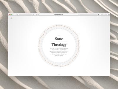 Ligoner • The State of Theology Home interactive marketing visualization vis data chronicle whitney ui ux app
