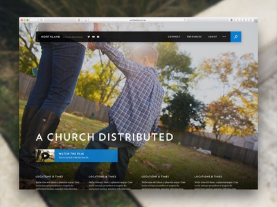 Northland • Homepage futura blog ux ui video photography vision mission website web