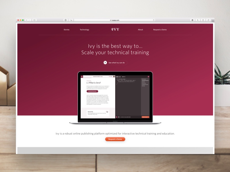 Ivy • Homepage icons illustrations website web interactive app ux ui whitney marketing