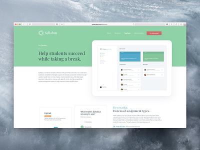 Syllabus • Teachers marketing ux ui content lms ed higher education startup application app