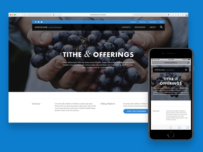 Northland • Tithe futura blog ux ui video photography vision mission website web