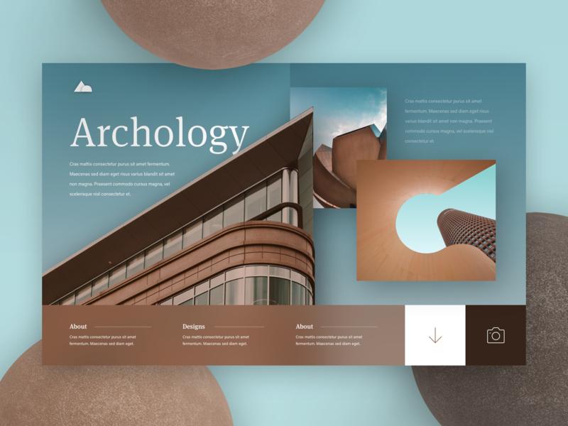 Archology design website typography web ui