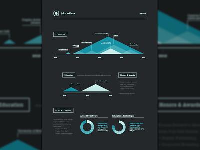 Resume resume resumé blue logo lines triangles infographic info graphic
