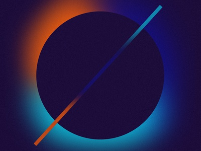 CROSS // DAY57 - Feekaj illustrator illustration pattern future liquify purple debut painting baugasm ying yang ying blue orange simple aesthetic cross dribbble photoshop gradient design