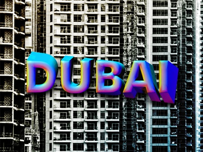 DUBAI // DAY68 - Feekaj liquify illustrator illustration pattern purple blue painting debut baugasm dribbble tower typography art art typographic typography typo dubai photoshop gradient design