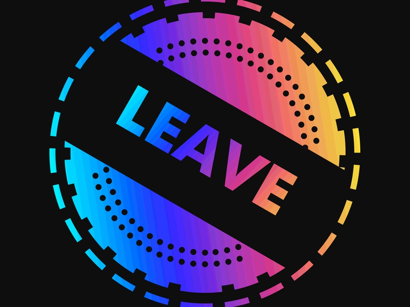 LEAVE // DAY69 - Feekaj cinema 4d abstract red rainbow print poster illustrator illustration pattern future liquify purple debut blue baugasm painting dribbble photoshop gradient design
