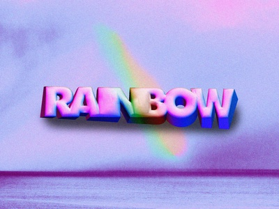 RAINBOW // DAY78 - Feekaj purple blue debut baugasm painting dribbble rainbows typography rainbow photoshop gradient design