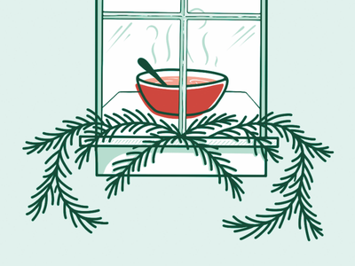 All the Cozy Vibes illustrations soup wip procreate holiday design holiday card holiday illustration