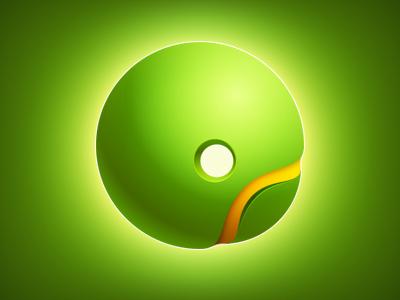 Q Icon glow icon q green light letter logo app