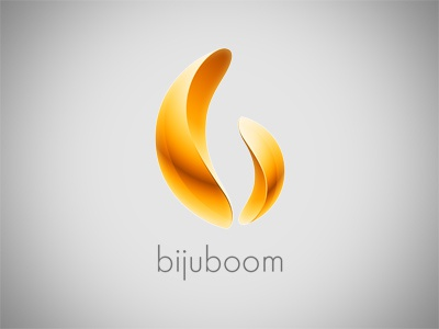Bijuboom logo logo gold yellow light metal jewelry