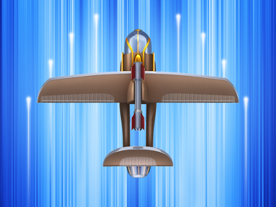 Airplane game concept airplane fly concept game speed lights