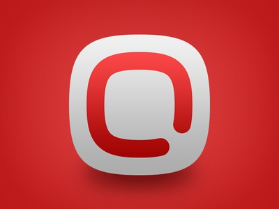 Qooiet Backup application icon application icon qooiet backup red white q