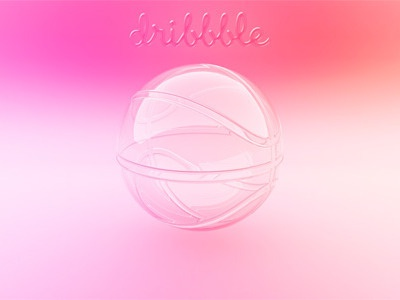 Glossy dribbble dribble glass icon