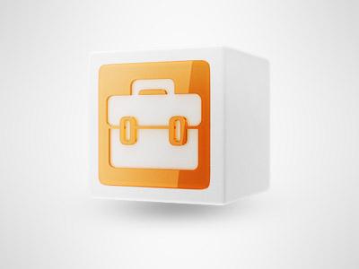 Case icon icon case orange glass