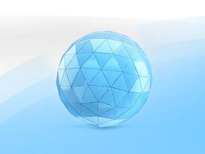 Glass ball icon icon glass ball