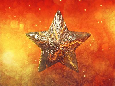 Rockstar! star lava fire orange