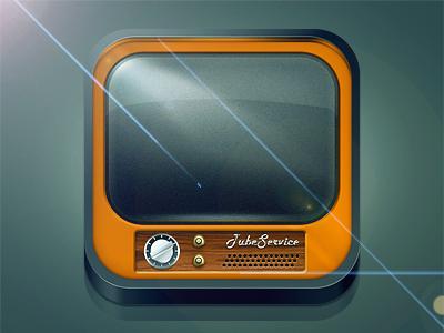 iOS icon Tube Service icon ios tube old tv