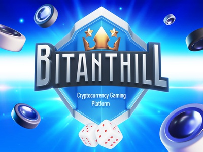 Bitanthill Logo logo game design blue 3d