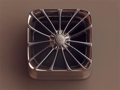 Chrome Wheel iOS icon chrome wheel ios icon 3d