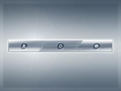 Chromed Navbar ui web button bar navigation playoff rebound