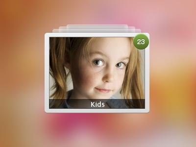 Kids album ui