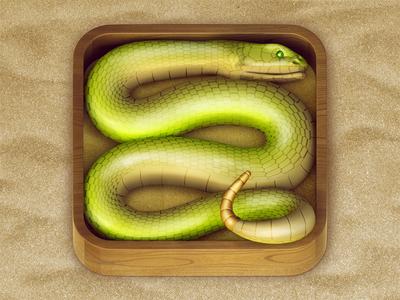 Snake iOS Icon ios icon snake sand green