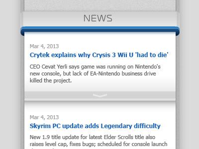 News column news ui web column nav bar