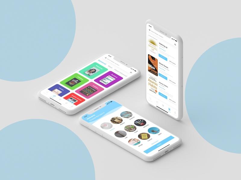Book lover reading ios ui adobe xd branding mock up byby design ui design mobile app