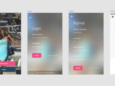 Dating App ios design app