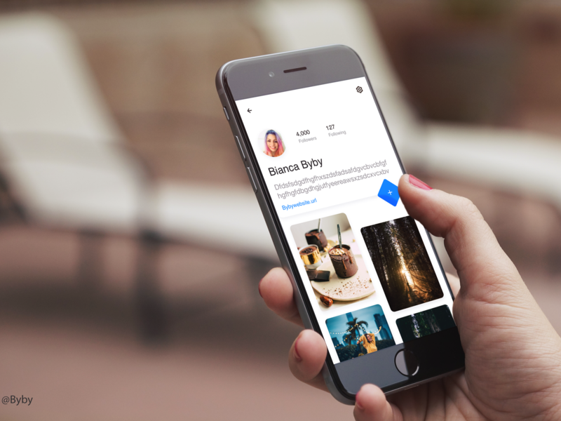 Design Profile App app mobile ui mock up branding design byby ui design ios