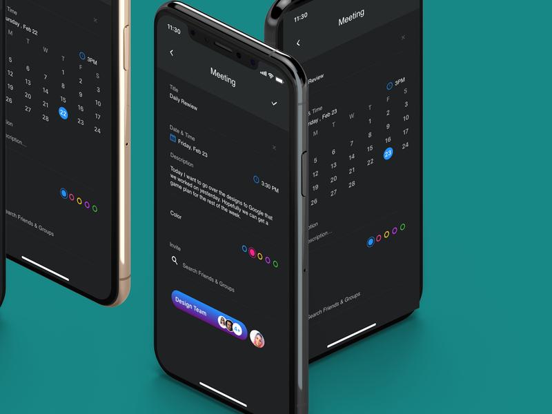 Meeting App adobe xd photoshop mockup meeting people ui ios mock up design mobile ui design app