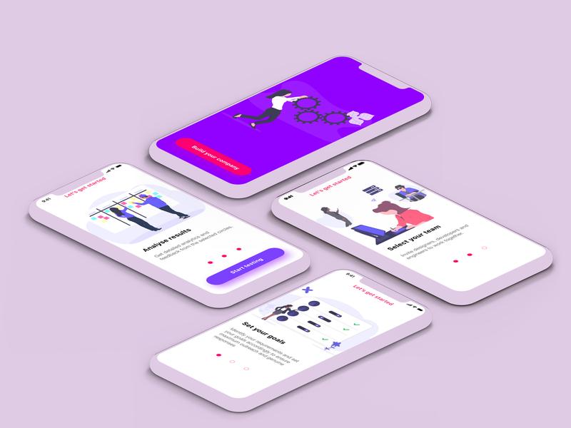 Build Your Company prototype mobile ios branding adobe xd vector byby mock up design ui design app
