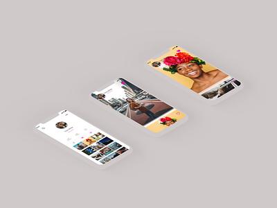 Instagram revamp prototype animation finding illustration branding design instagram rotato animation byby mock up mobile ui design app