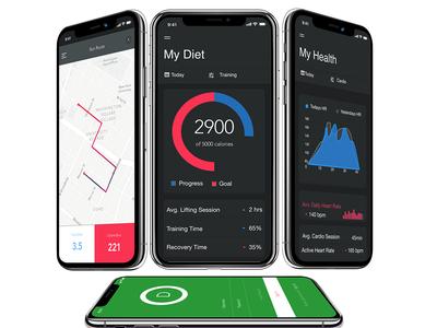Fitness App fitness branding ios byby mock up design ui design mobile app