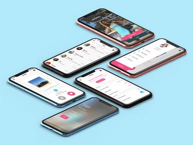 Dating App datingapp branding adobe xd mock up mobile byby design ui design app