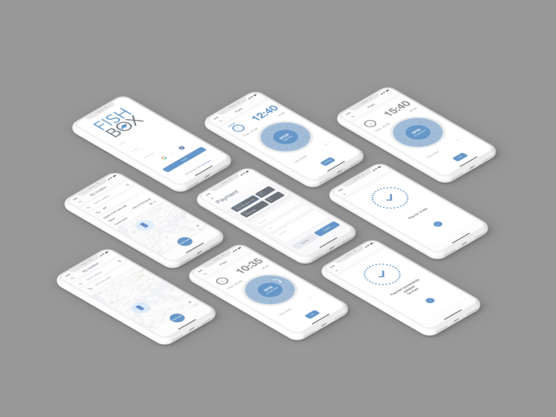 Parking App app ios mock up byby design mobile ui design parking app