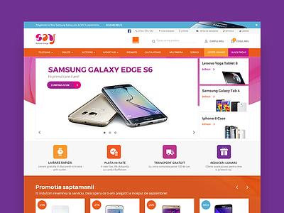 Sayshops Website homepage ux ui website web store shop ecommerce